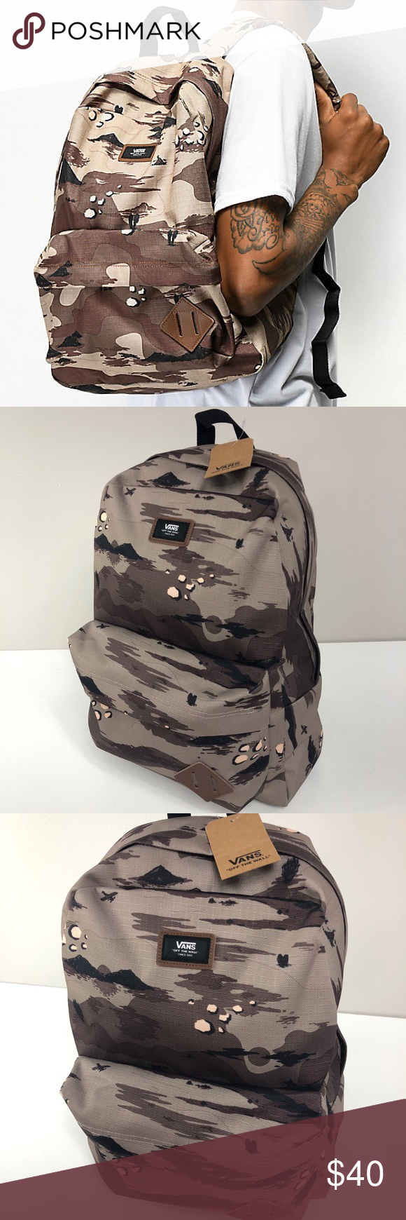 7afe4ef2753 NWT Vans Old Skool II Storm Camo Backpack NWT Vans Old Skool II Storm Camo  Backpack