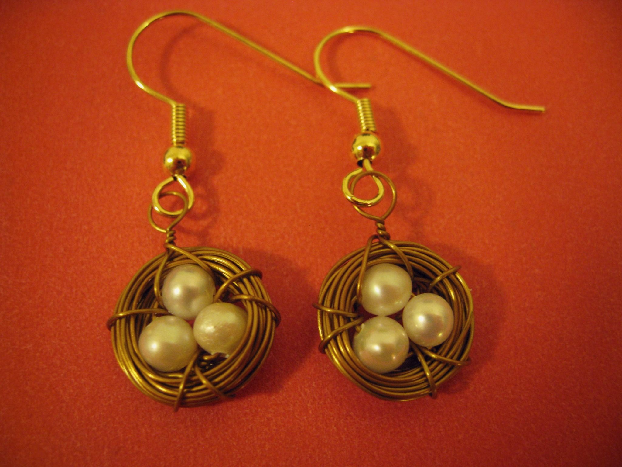 HANDMADE: Bronze Bird's Nest Earrings ($12)