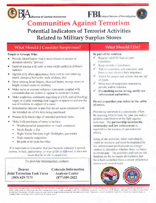 List Potential Terrorist FBI Flyer The Best MRE Food Storage You can Buy!  sc 1 st  Pinterest & List Potential Terrorist FBI Flyer The Best MRE Food Storage You can ...