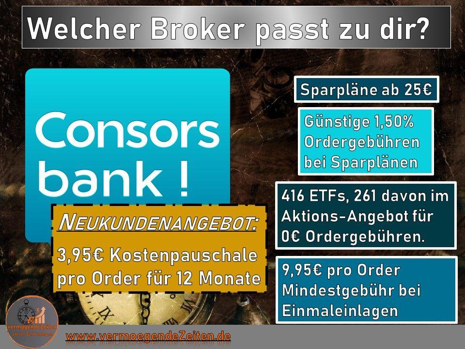 Consorsbank Aktien GebГјhren