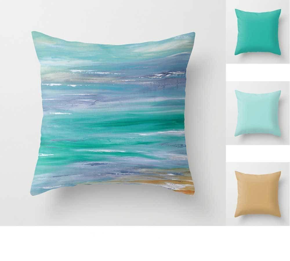 Coastal Throw Pillow Blue And Turquoise Throw Pillows Blue
