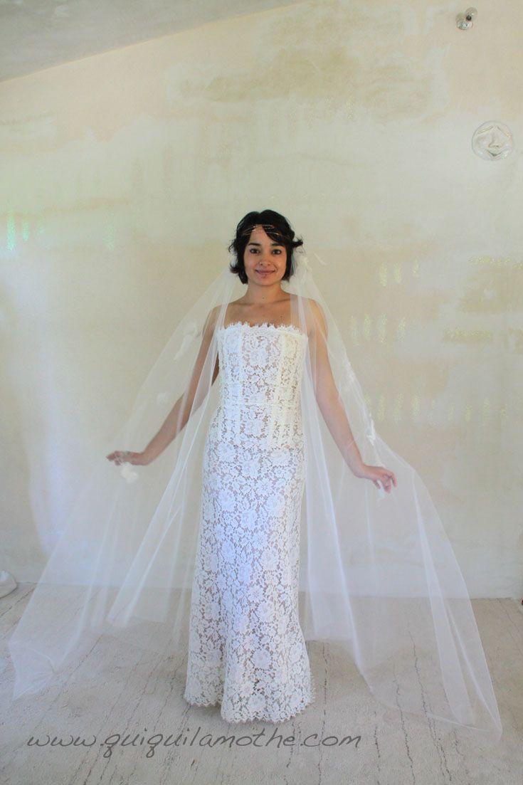 robe de mari e en dentelle de calais r tro simple robes de mari es dentelle lace wedding. Black Bedroom Furniture Sets. Home Design Ideas