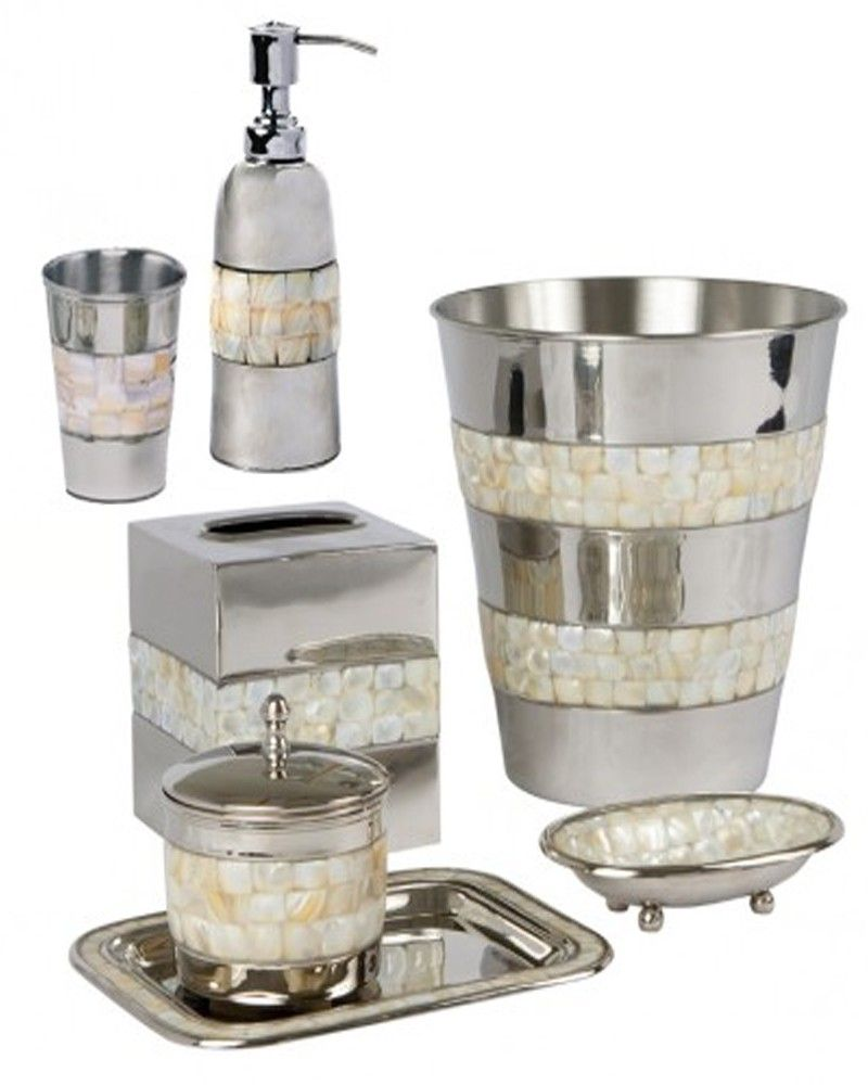 bathroom accessories sets silver. Need To Update Your Bathroom? Try This Mother Of Pearl And Nickel 7 Piece Bath Accessory Set Available At Turner Bay. Bathroom Accessories Sets Silver S