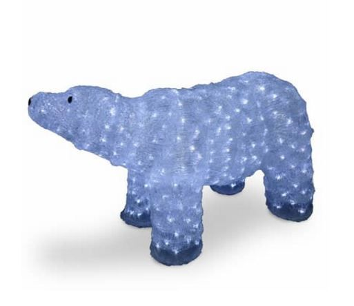 20 in acrylic mother bear christmas decoration with 400 led lights