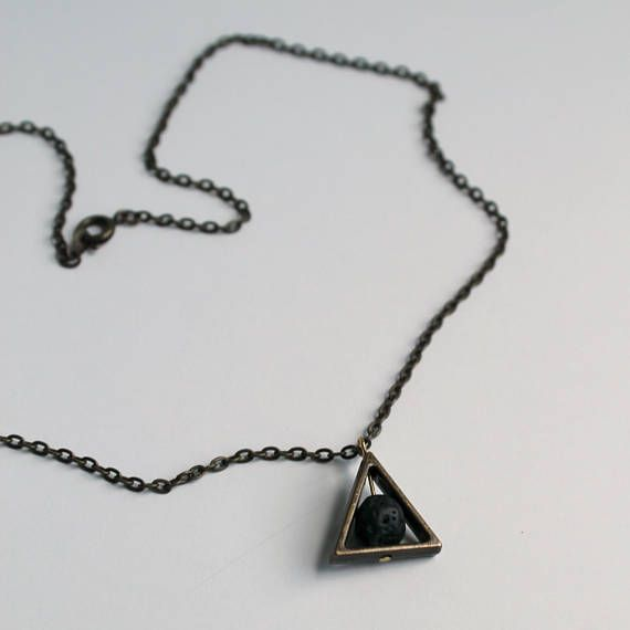 Diffuser necklace with lava stone in triangle charm essential oils diffuser necklace with lava stone in triangle charm essential oils aroma necklace beaded lava necklace deathly hallows diffusing necklace aloadofball Image collections