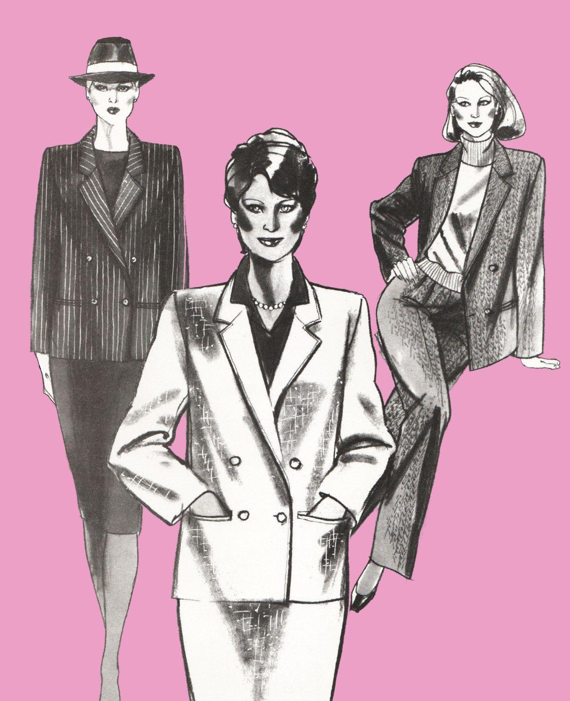 Women's double breasted jacket pattern