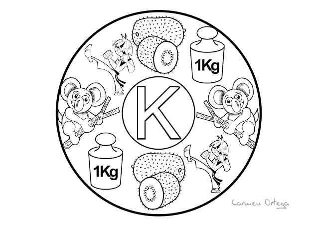 Mandalas del abecedario para colorear: Letra K   sala de clase ...
