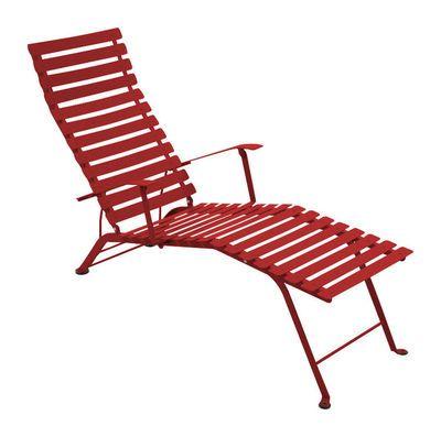 Chaise longue Bistro Coquelicot Fermob