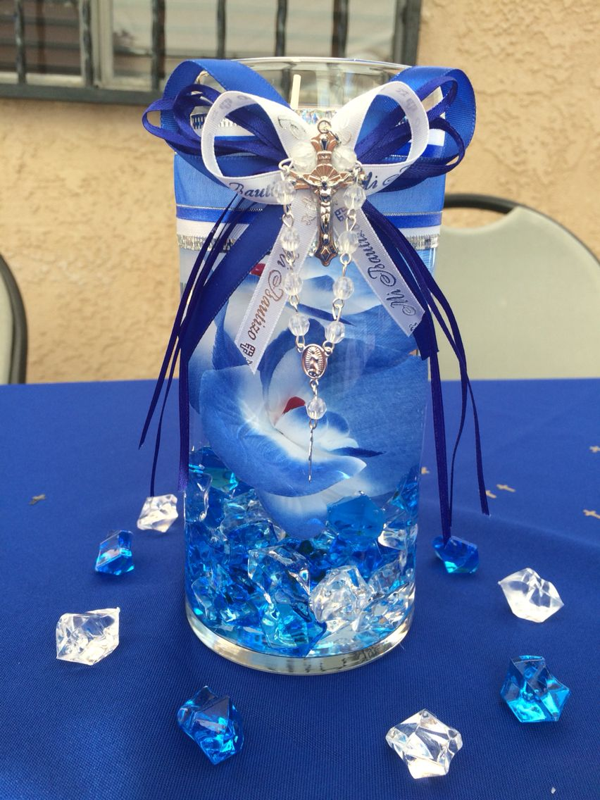 Boy baptism center piece ideas pinterest