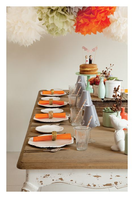 Our table in wedding inspirations magazine.