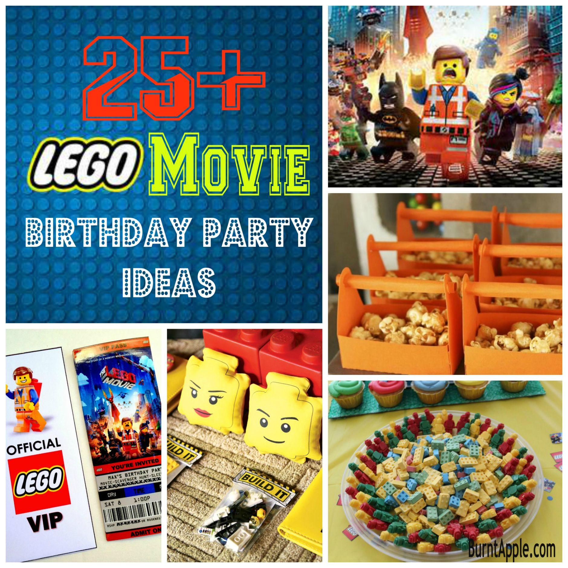 25 Lego Movie Birthday Party Ideas Burnt Apple Lego Movie Birthday Movie Birthday Party Lego Themed Party
