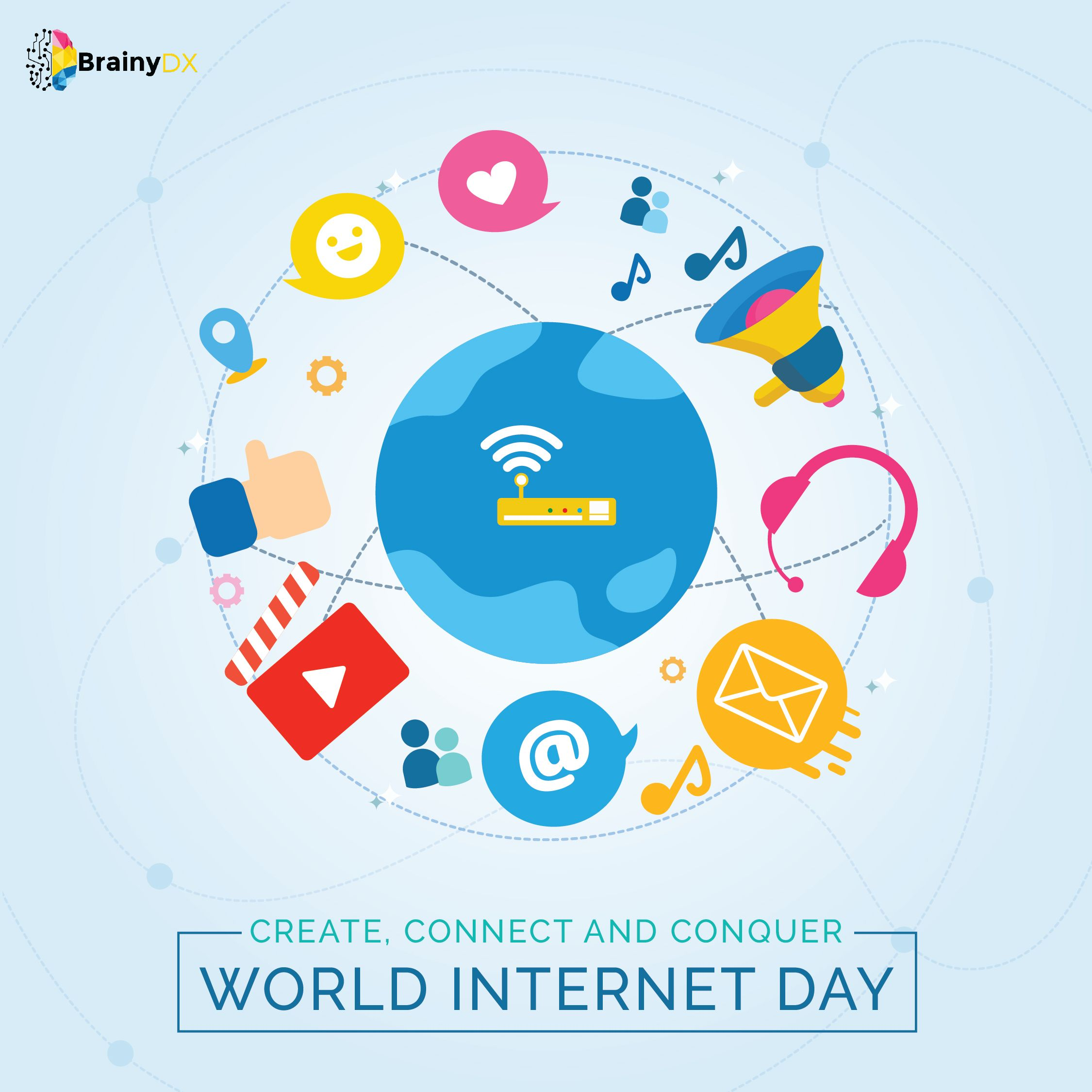 Celebrate This Internet Day With A Thank You Note For It S Remarkable Contribution In Our Daily Life Digital Marketing Company Website Design Digital Marketing