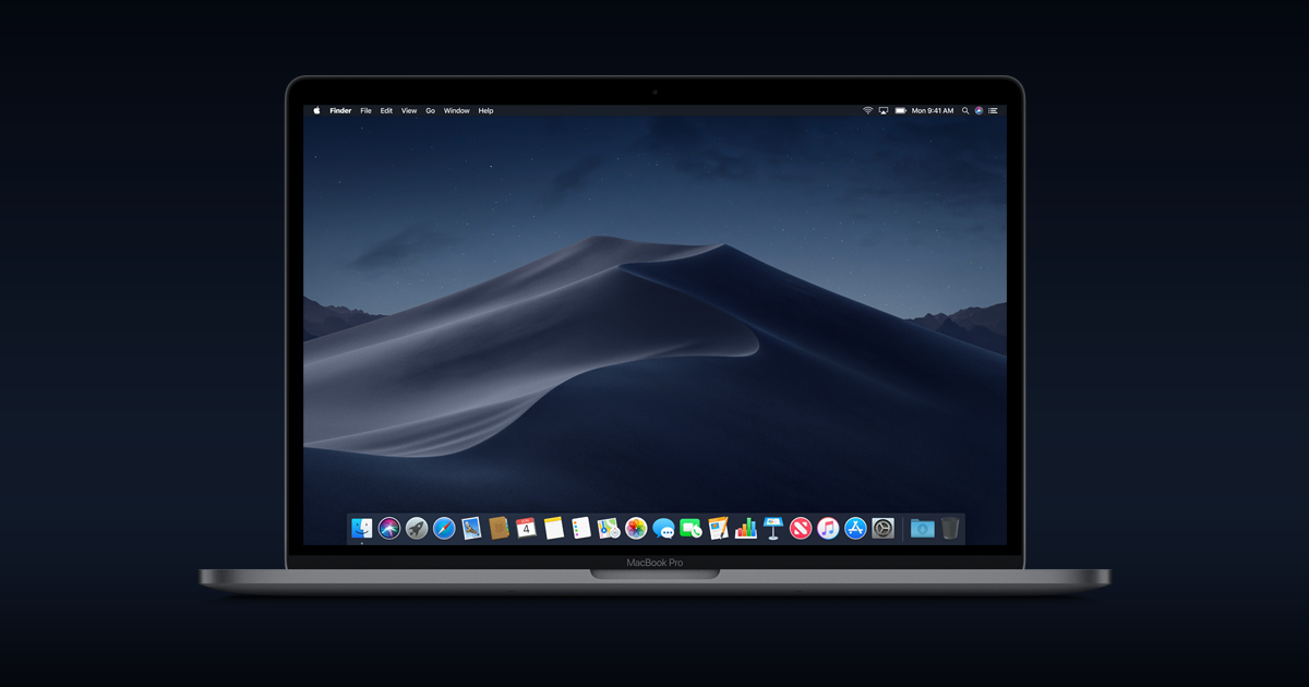 Macos Mojave Dark Mode To Put Your Work Center Stage New Features To Help You Quickly Organize And Work On Files And The All N Mac Os Mac App Store Apple Os