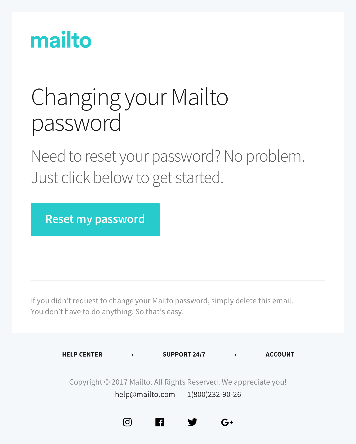 Change Password HTML Email Template ...