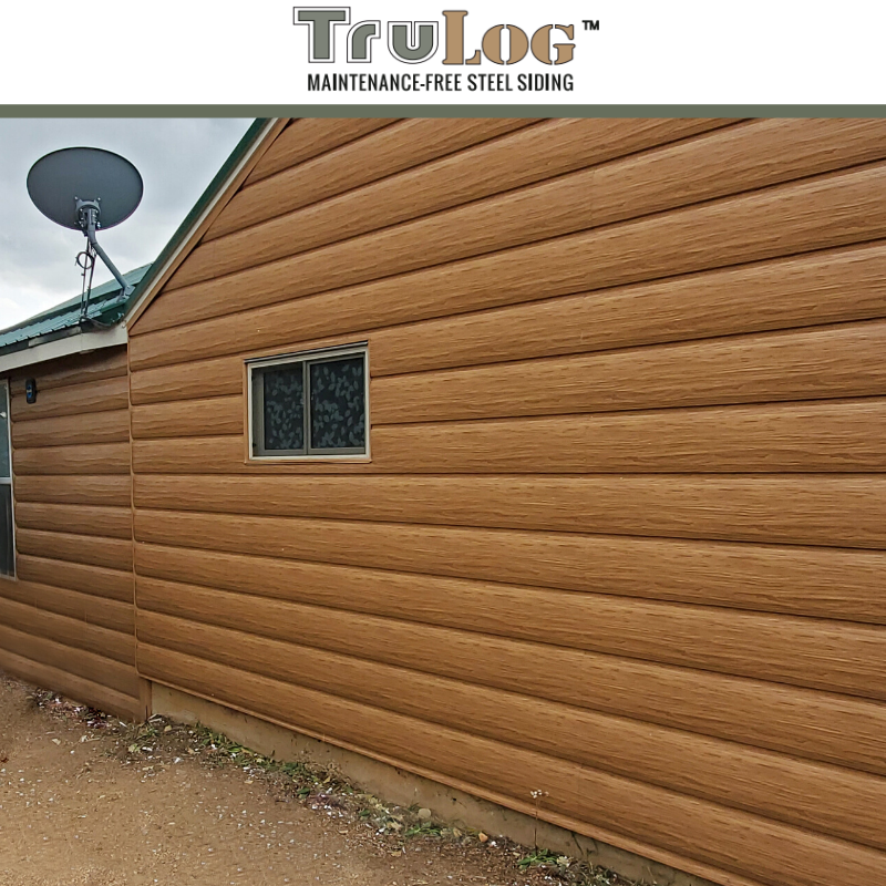 Trulog Steel Siding In 2020 Steel Siding Log Cabin Siding Container House
