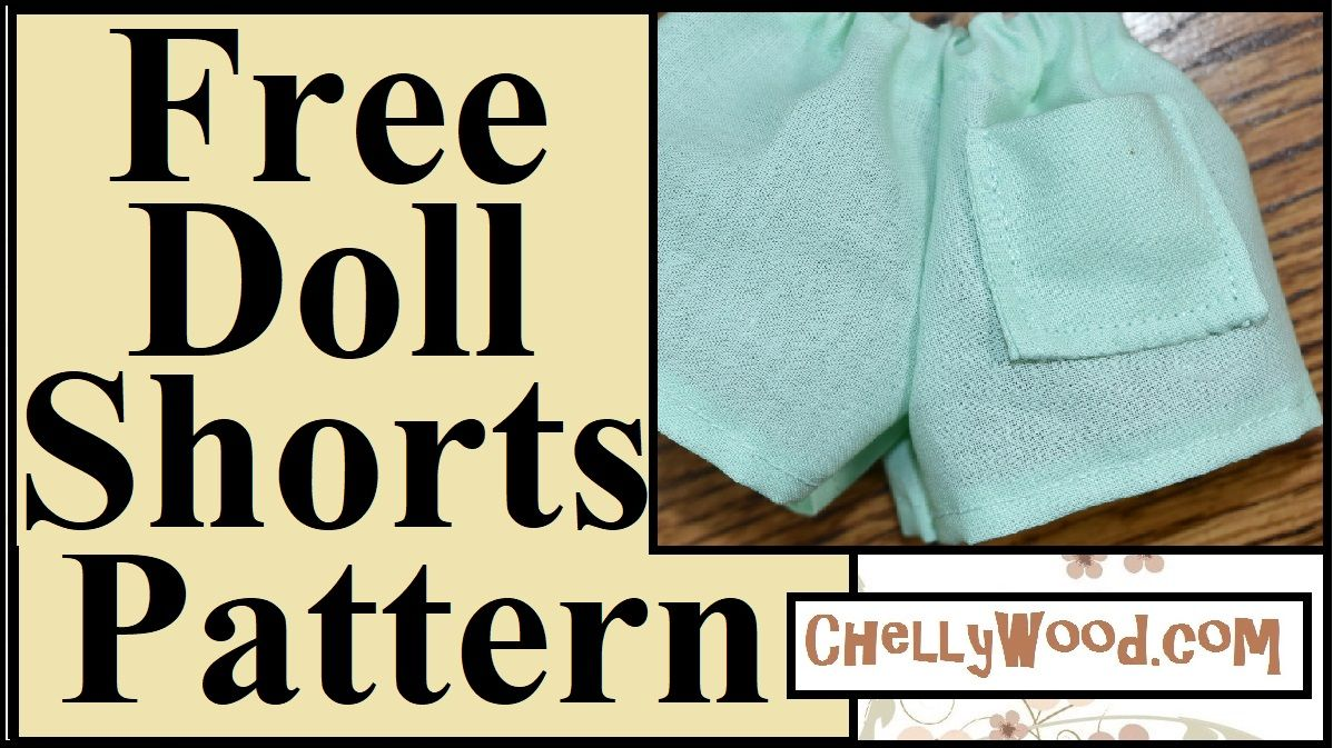 DIY Doll Shorts with Free PDF Pattern