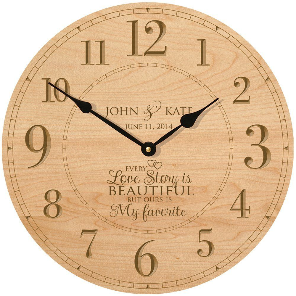 Wedding Wall Clock Or Anniversary Personalized Gift Housewarming Every Love Story Is Beautiful But Ours My Favorite