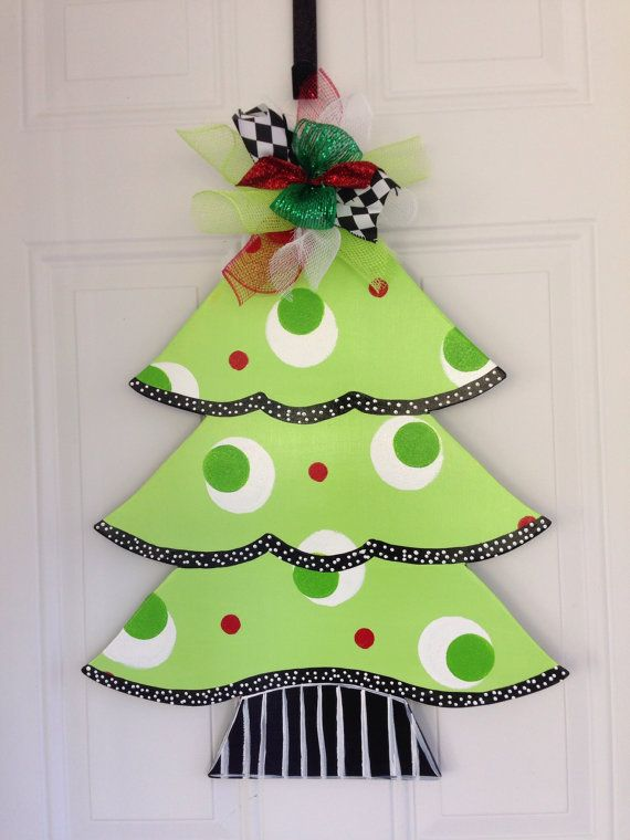 Christmas door hangerchristmas tree door by Furnitureflipalabama - christmas decors