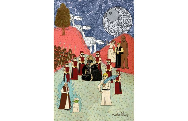 Famous Movies Depicted As 16th Century Ottoman Paintings - Star Wars