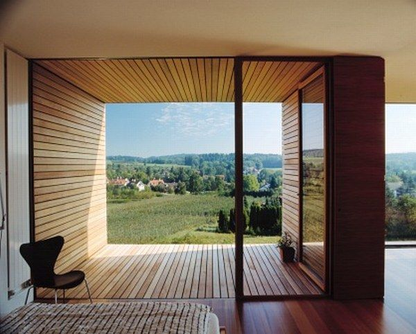 Natural View of Wood Box House by K_M Architektur Architechure - gemutliche holzverkleidung innen