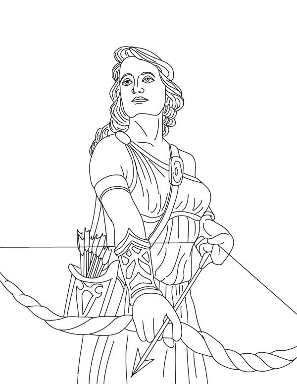 Artemis From Greek Gods And Goddesses Coloring Page Netart Greek Gods And Goddesses Greek Gods Coloring Pages