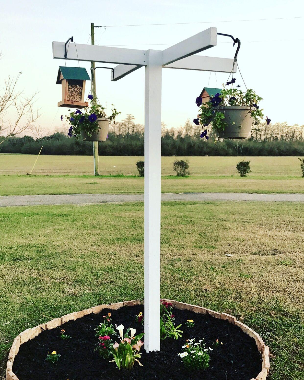 diy 4way bird feeding station with flowers diybirdfeeder