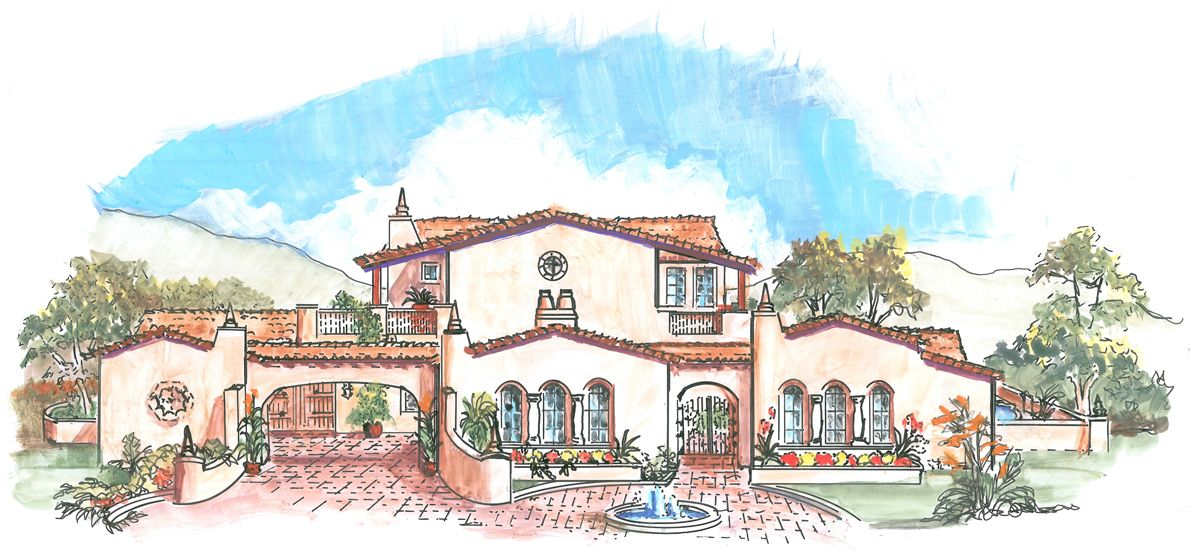 Mexican Houses With Courtyards Home Plans House Plan Courtyard Home Tuscan House Plans Mediterranean Homes Courtyard House Plans