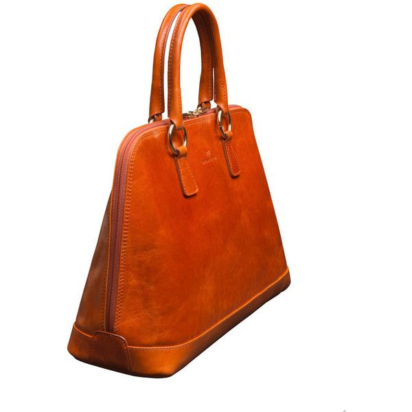 Brenda Macleod - Fiona Orange Top Handle Bag (€295) ❤ liked on Polyvore featuring bags