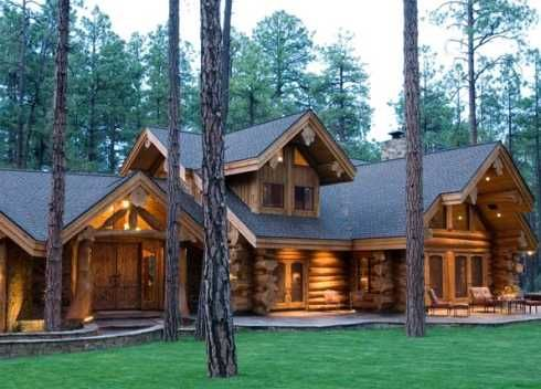 Extraordinary Log Cabin Houses Big Bold And