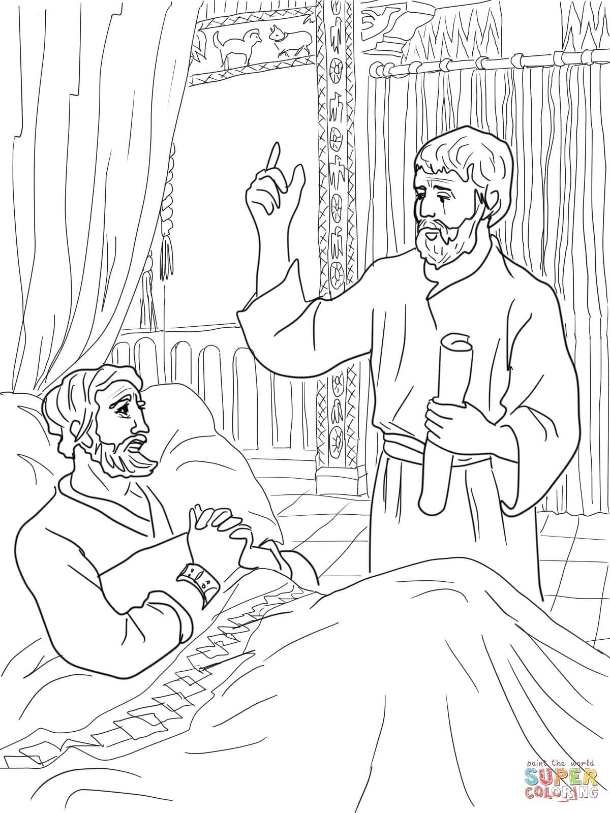 King Hezekiah And Isaiah Coloring Page Free Printable Coloring Pages Bible Coloring Pages Bible Coloring King Hezekiah