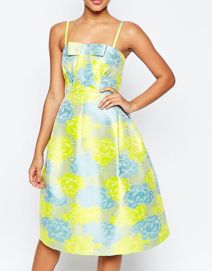 Yellow 50s Style Prom Dresses