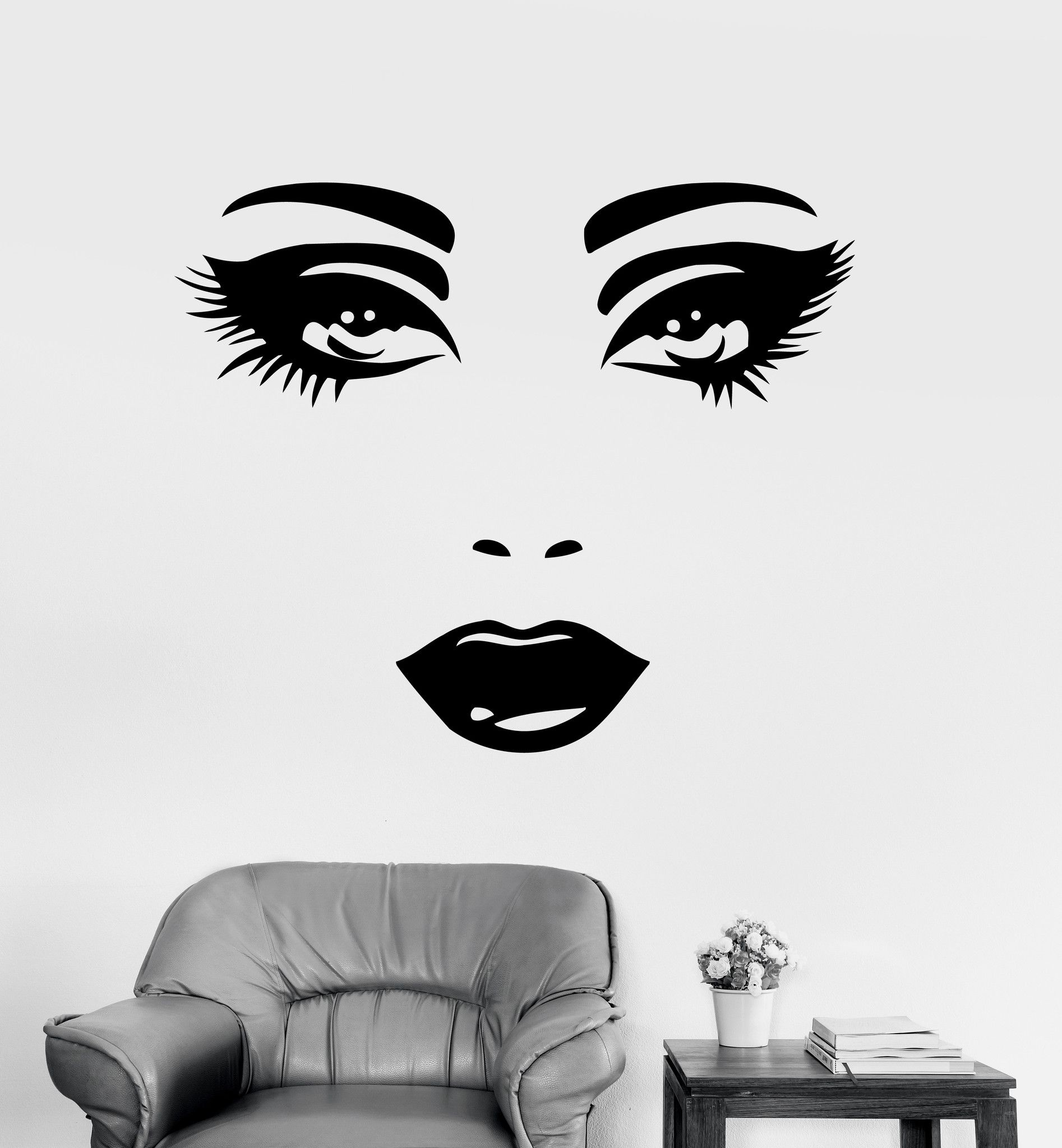 Wall decal sexy face eyes woman female vinyl sticker unique gift wall decal sexy face eyes woman female vinyl sticker unique gift z3262 amipublicfo Images