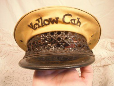 b45706e470499 vintage yellow cab driver hat.