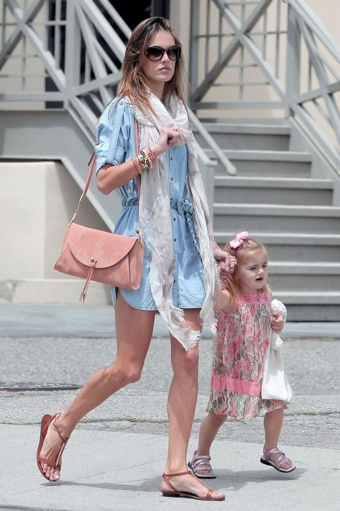 alessandra and her little babe... and ahhh warm weather clothes