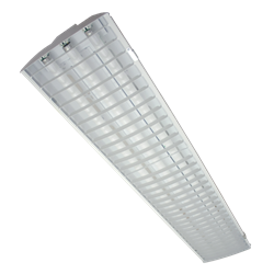 3 Lamp 32w T8 Linear Fluorescent Retailer Style Louver High Bay Light Architecture Kitchen Ceiling Fixtures Ballast