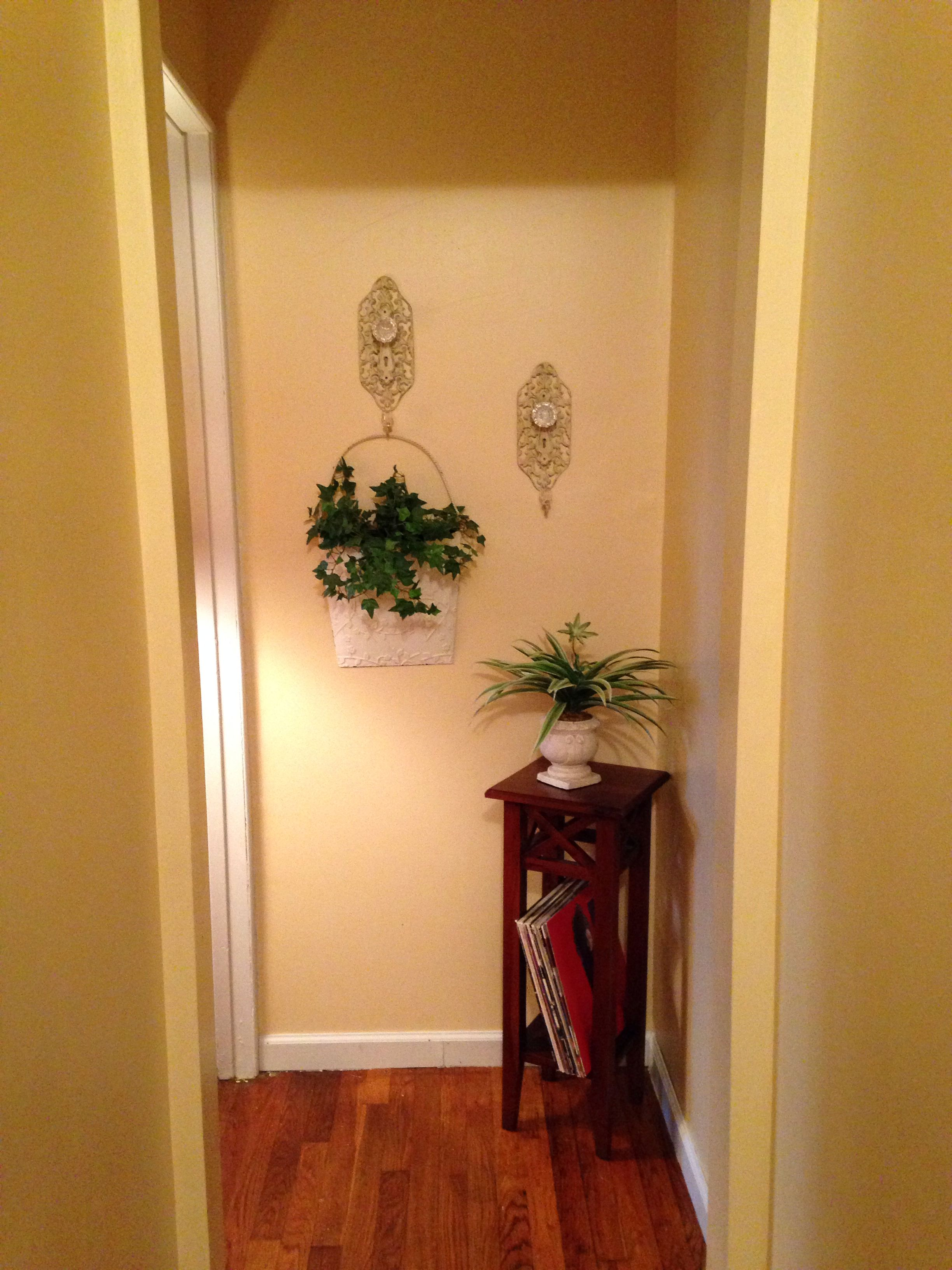 End of hallway decor  End of hallway decor via Meghann Tinker  Ideas for the house
