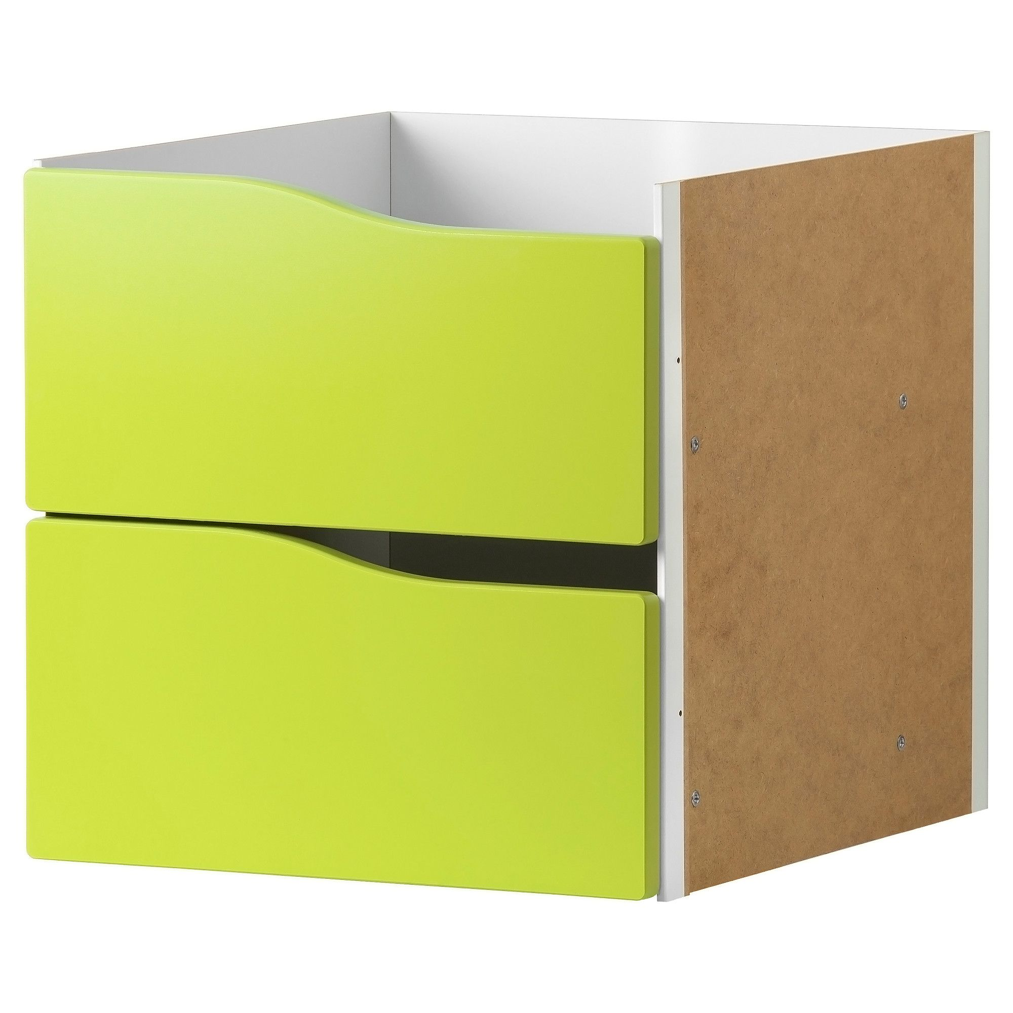 Kallax Insert With 2 Drawers Light Green 33×33 Cm Kallax Insert  # Ikea Odda A Roulette