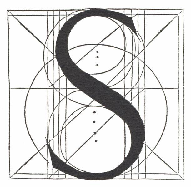 S By Fra Luca Pacioli Leonardo Da Vinci Lettera S Tipografia
