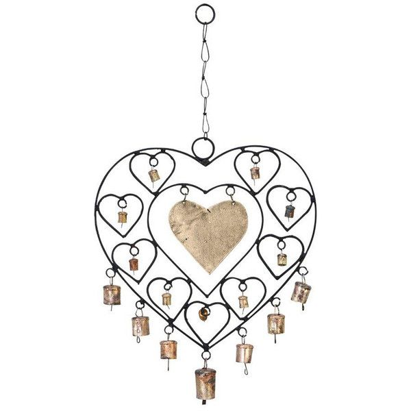 ORE Metal ($18) ❤ liked on Polyvore featuring home, outdoors, outdoor decor, grey, garden decor, outdoor garden decor, wind chimes, garden wind chimes and metal windchimes