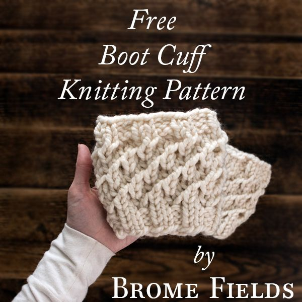 FREE Boot Cuff Knitting Pattern Knit in the Round by Brome Fields {+ ...
