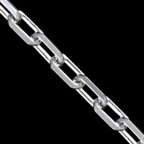Sterling silver chain.Classical pattern with links, polished.