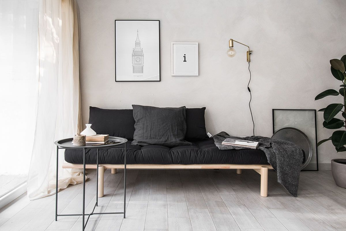 24 Attractive Minimalist Living Room Ideas Minimalist Living Small Apartment Decorating Living Room Living Room And Bedroom Combo Small Apartment Living Room