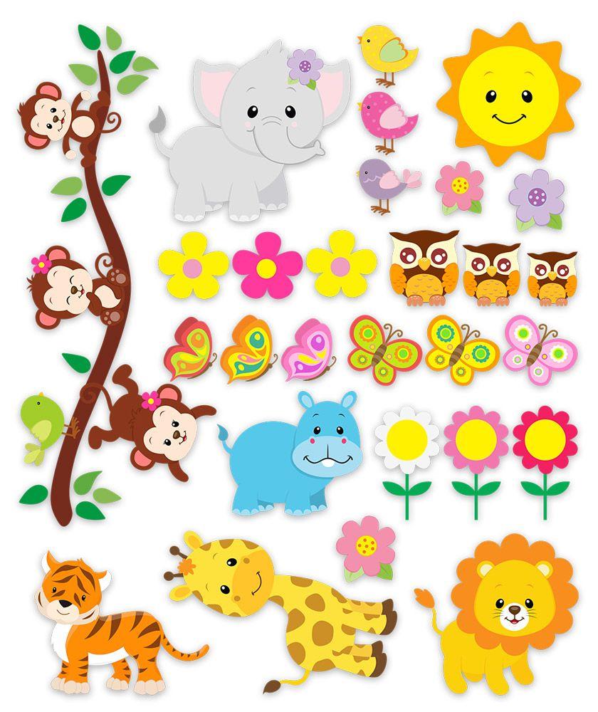 Vinilos infantiles kit animales de la jungla 3 baby for Vinilos infantiles animales