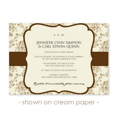 Free Wedding Invitations Templates  St  Bridal World