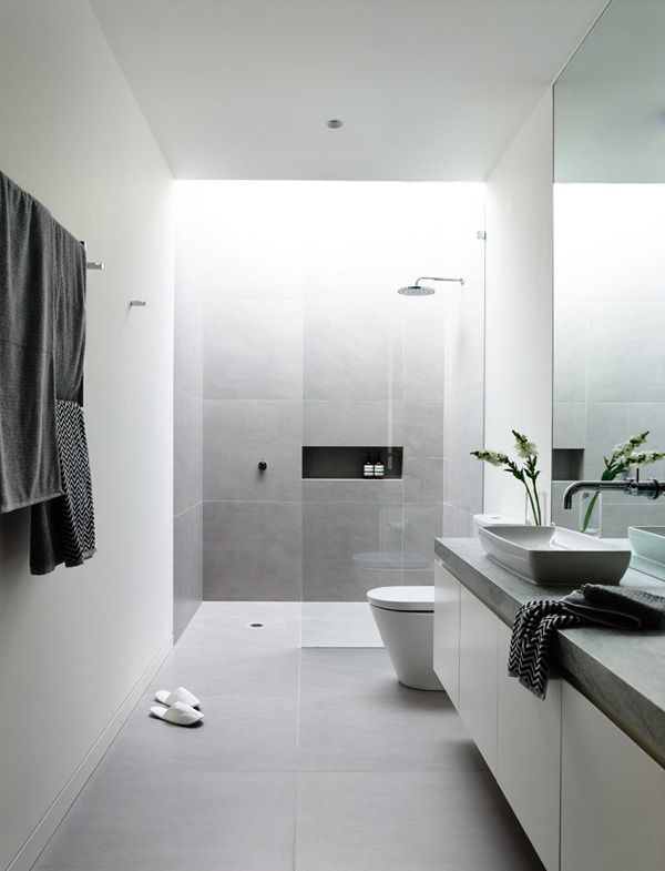 Splendid Ambiance Disclose In The Robinson Concept Home In Melbourne Australia Home Design Lover Minimalist Bathroom Bathroom Design Modern Bathroom