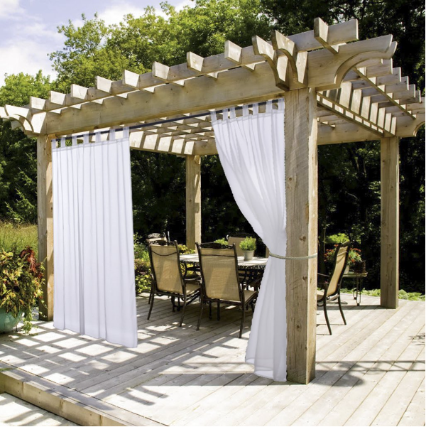 Are You Ready For Summer Sheer Curtains For Summer White Outdoor Curtain And Drape For Pergola Niceto Outdoor Curtain Rods Gazebo Curtains Outdoor Curtains