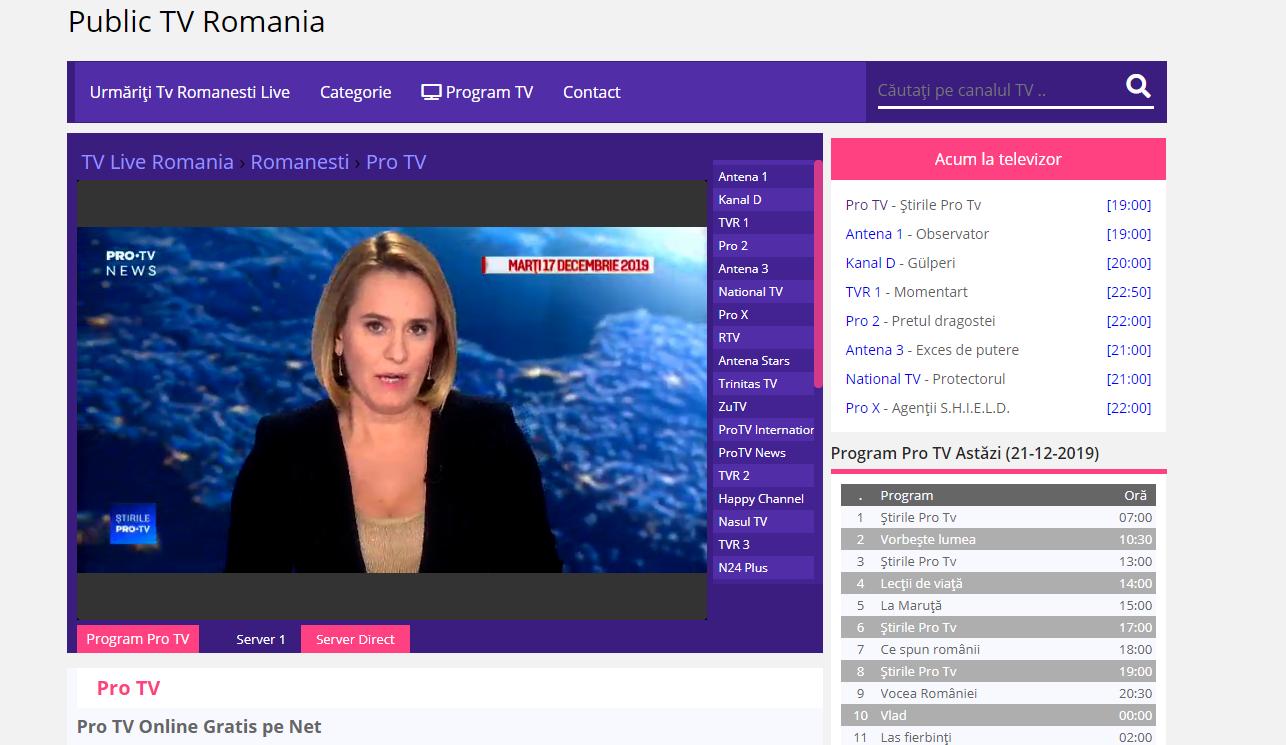 pro tv online gratis pe net tv