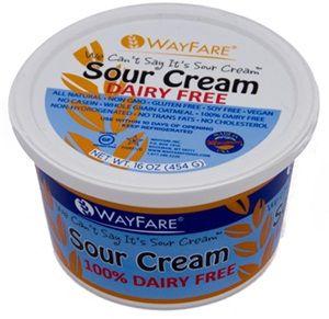 Wayfare Dairy Free Sour Cream Review Soy Free Vegan Dairy Free Alternatives Lactose Free Diet Dairy Free