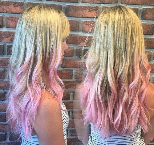 Pink Ombre Dip Dye Pink Blonde Hair Pink Hair Tips Pink Hair Dye