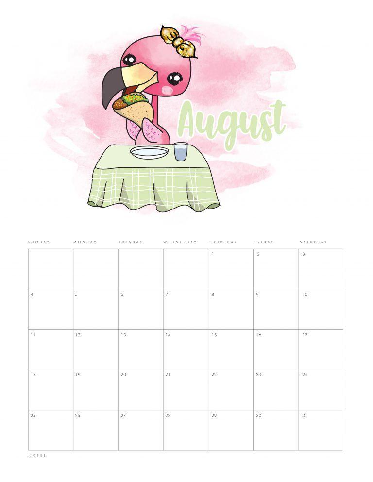Free Printable 2019 Funny Flamingo Calendar The Cottage Market Funny Flamingo Flamingo Coloring Page Flamingo